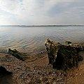 #jezioro #mgła #przyroda #skarpy #zachod