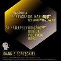 #JoannaBorzęcka #nagroda #NaNajlepszyDebiut #poetycki #SlalomSongs