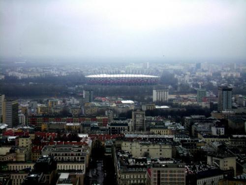 Widok z PKiN w Warszawie