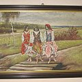 cyganki - obraz olejny #cyganki #obraz #olej #wojciechowski #cudo #rarytas #unikat #bialy #kruk #aukcja #allegro #okazja