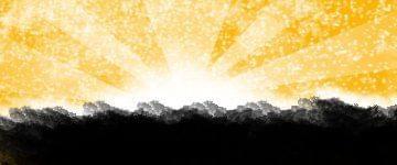 Grafika zrobiona w Gimpie #gimp #WschódSłońca #sygnatura