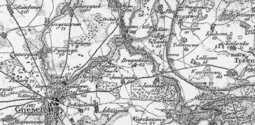 mapa okolice Strzyżewa Kościelnego lata 1803