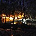 zimowe Ostromecko nocą #wieczór