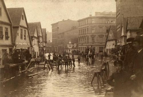 Powódz Poznań 1888 rok 1888 - Chwaliszewo 02
