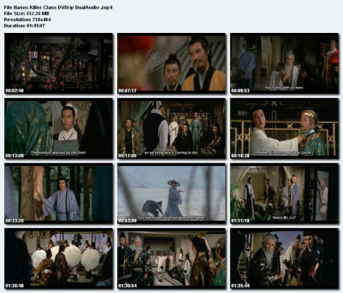 Klany zabójców / Liu xing hu die jian / Killer Clans (1976) DVDRip. DivX.  Napisy ENG.