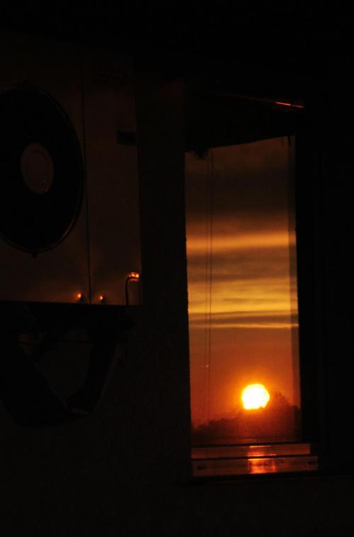 #ZachódSłońca #odbicie #wiatrak