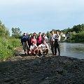 Wszyscy razem.Koniec spływu.Wieś Chroberz. #Spływ #rzeka #kajaki #Nida
