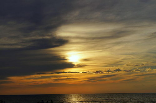 Zachód 1 #Morze #plaża #słońca #słońce #woda #zachód