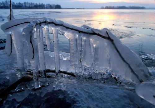 Arktyczne Mazury. #lód #nacieki #sople #zima