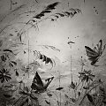 Foto obrazu olejnego wykonane w stylu retro #kwiat #kwiaty #natura #retro