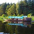Spływ z nurtem Narwi na odcinku Łomża-Nowogród sierpień 2009.Gondola. #krajobrazy #Narew #pontony #rzeki #spływy