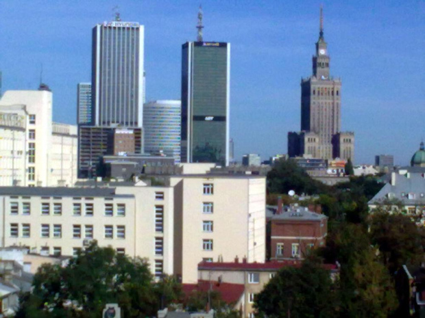 Warszawskie dwie wieże #Warszawa #widok #wieżowce