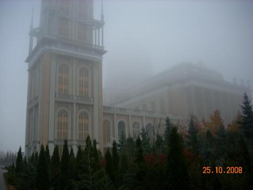 Bazylika we mgle.