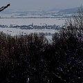 Panorama ze Skałki na Paszowice #Paszowice #Rataj #Śnieg #skałka #zima #ParkKrajobrazowyChełmy