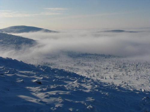 Widok ze Szrenicy #Karkonosze #góry #zima #śnieg #Szrenica