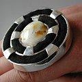 pierścionek Wehikuł czasu #filc #bursztyn #srebro #design #BiżuteriaAutorska #pierścionek #jewelry #HandMade