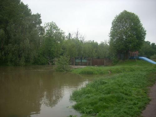21 maja 2010 godz 11:00-Wrocław, widok na Oławkę od strony szpitala.