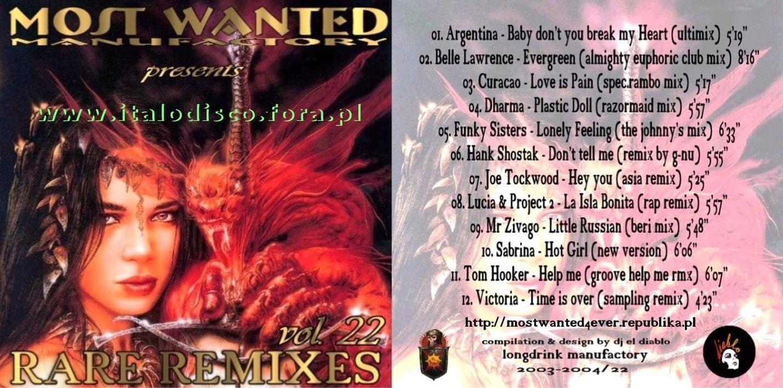 Most Wanted Rare Re-Mixes- vol.22