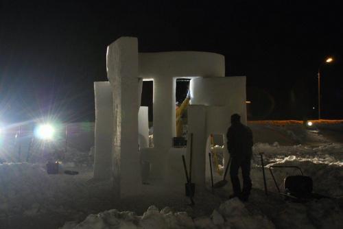 rzeźby w śniegu LIVIGNO #Alpy #Livigno #rzeźby #śnig
