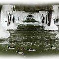 Pod molem w brzeżnie #Molo #zima #sople #oblodzenie