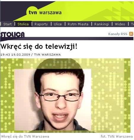 www. tvnwarszawa. pl #RafałKoniecznyITVNWarszawa #TVN #Warszawa #casting #prezenter #program